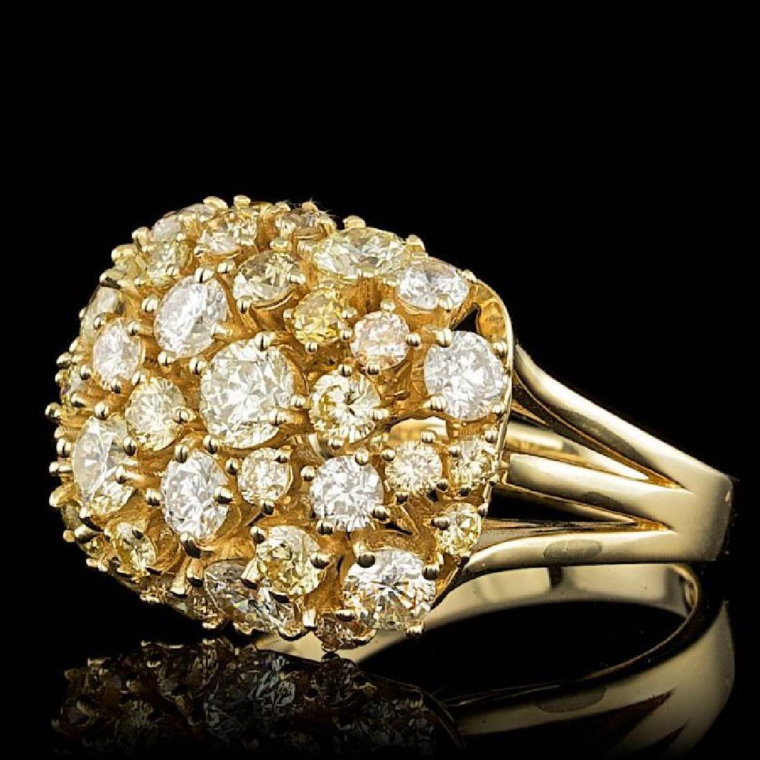 14k Yellow Gold 3.10ct Diamond Ring - 2