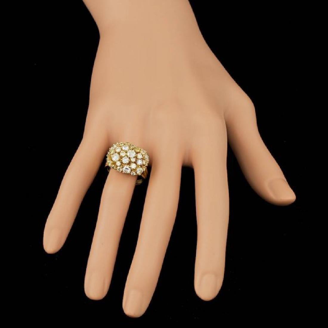 14k Yellow Gold 3.10ct Diamond Ring - 3