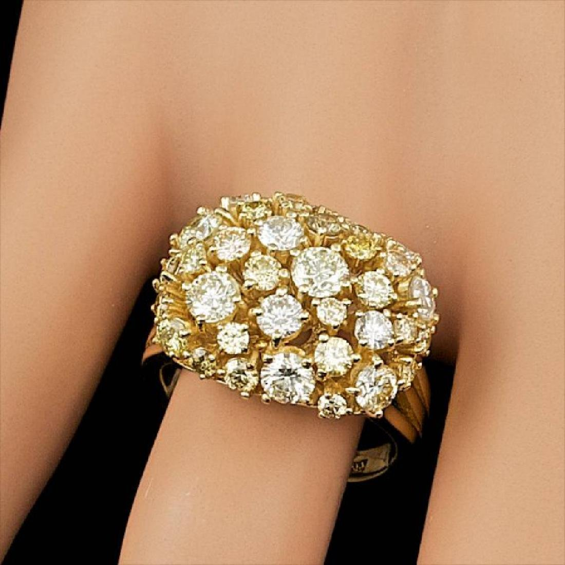 14k Yellow Gold 3.10ct Diamond Ring - 4
