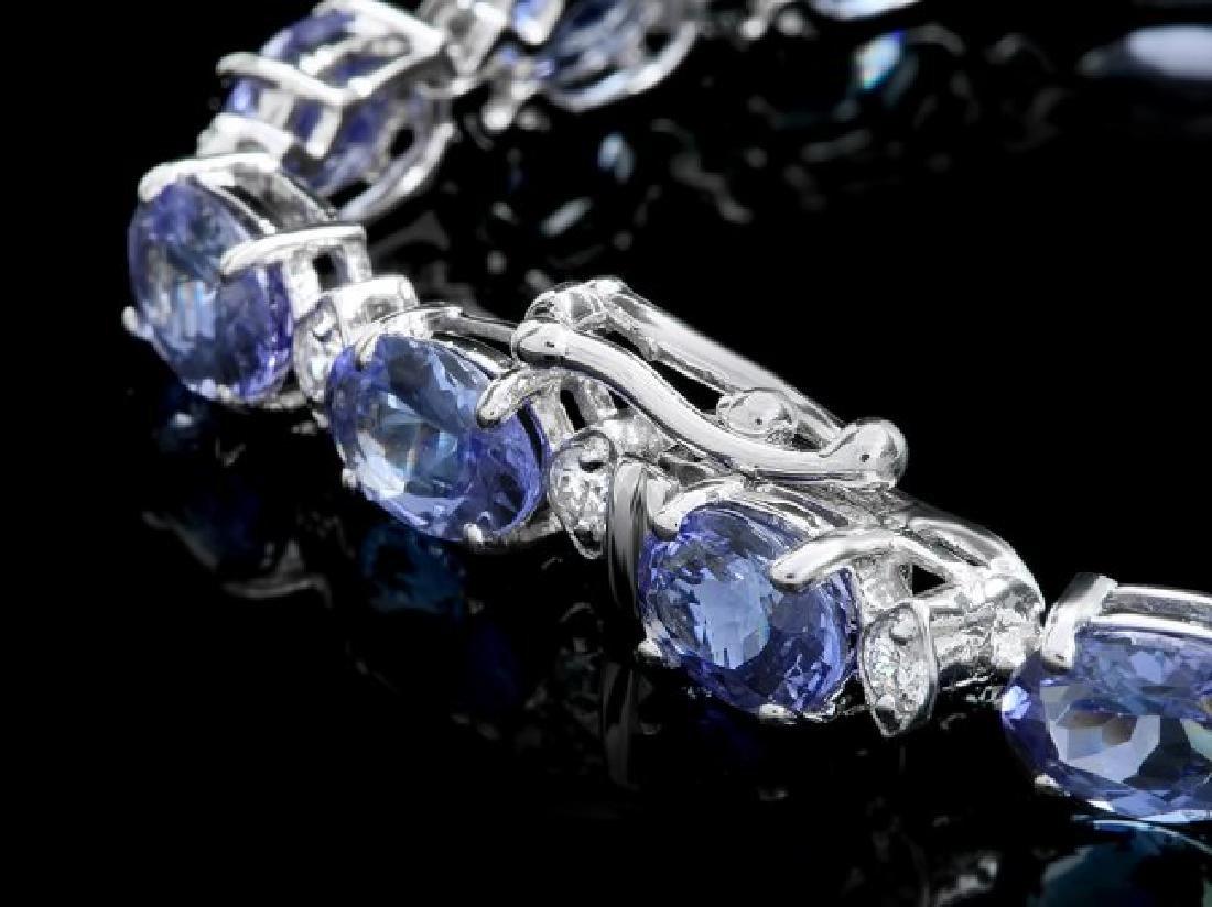 14k 14.00ct Tanzanite 0.90ct Diamond Bracelet - 3
