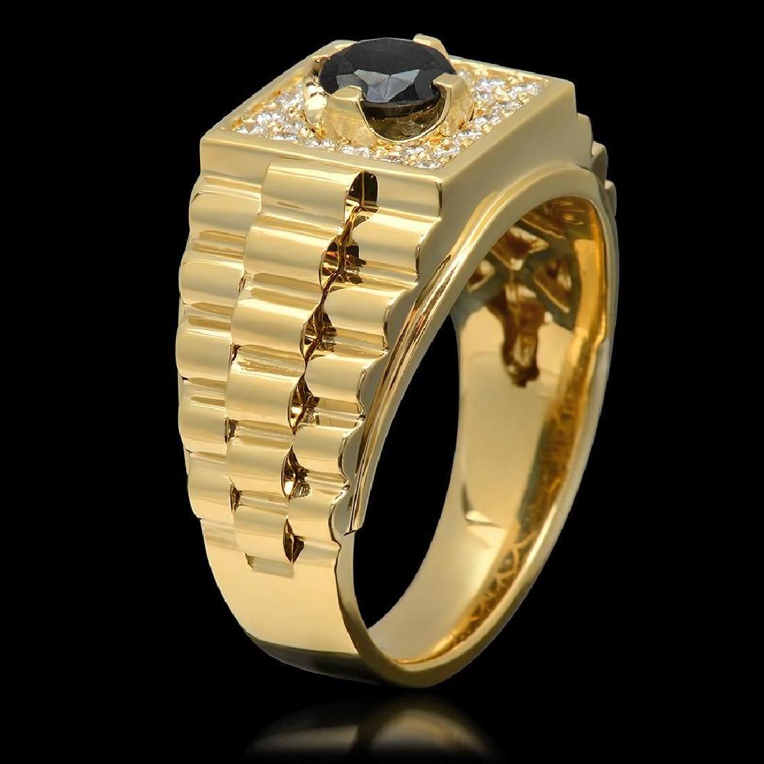 14k Yellow Gold 0.65ct & 1.01ct Diamond Ring - 2