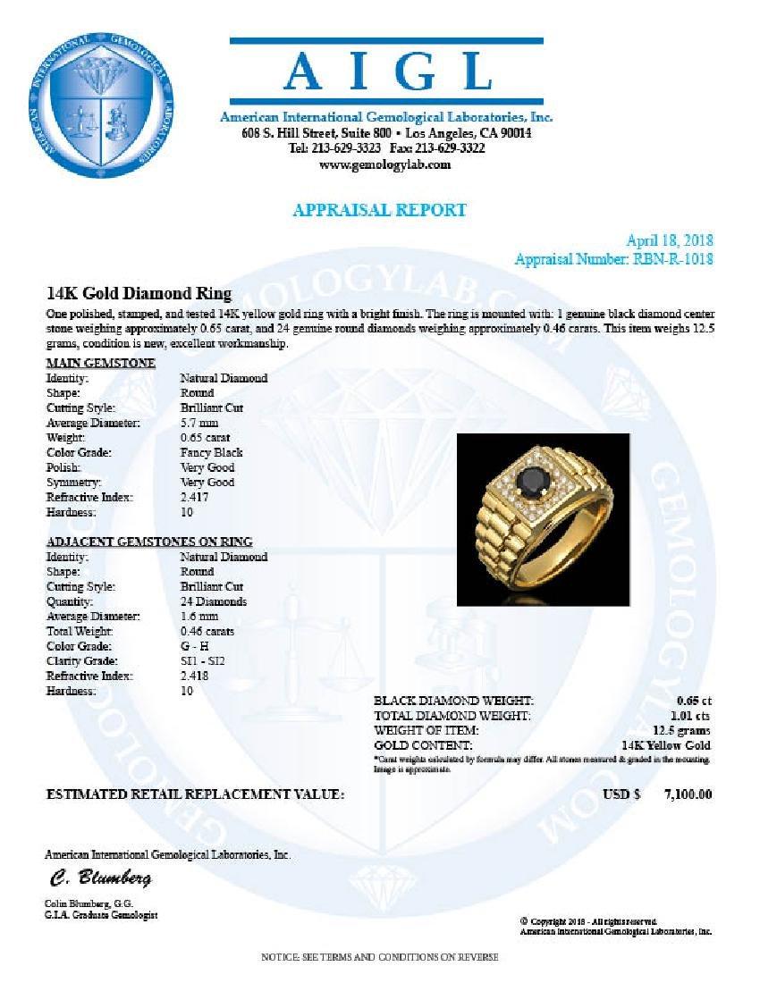 14k Yellow Gold 0.65ct & 1.01ct Diamond Ring - 3