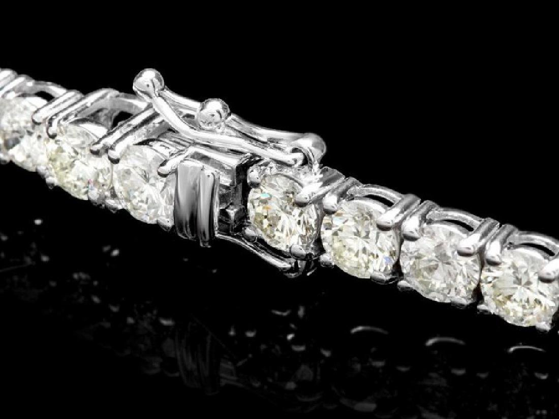 18k White Gold 12.00ct Diamond Tennis Bracelet - 2