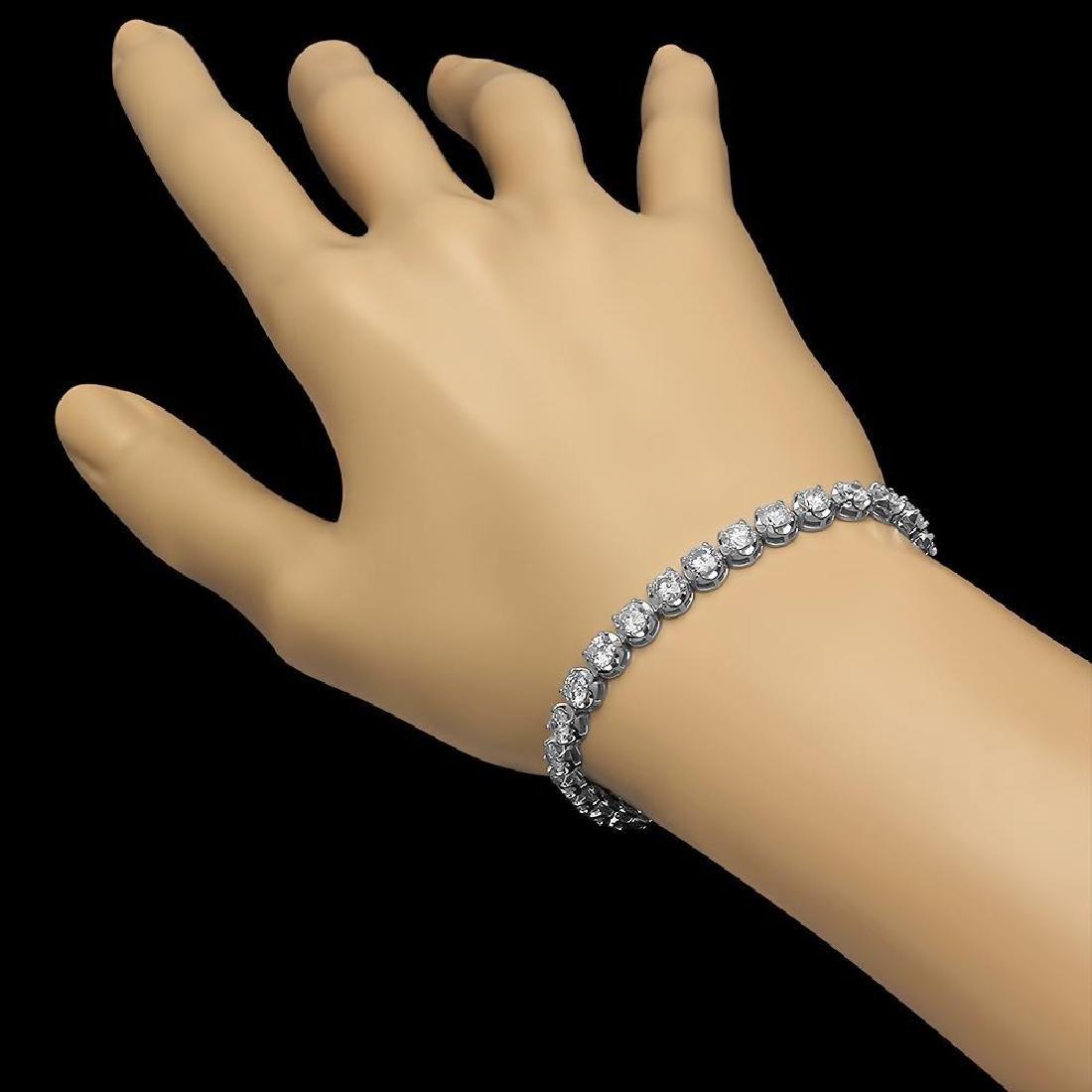 18K Gold 8.54ct Diamond Bracelet - 2