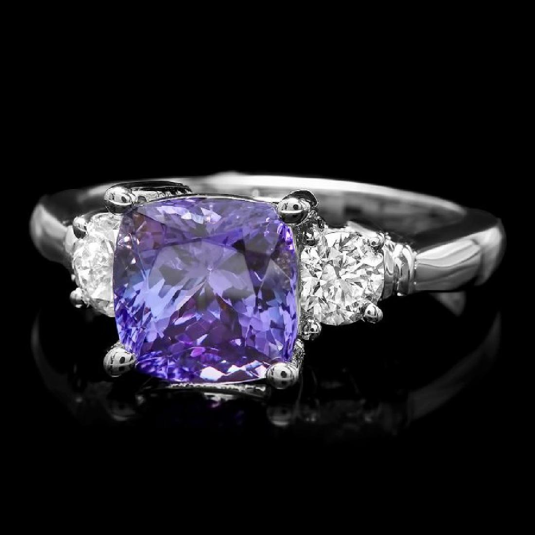14k Gold 3.00ct Tanzanite 0.60ct Diamond Ring