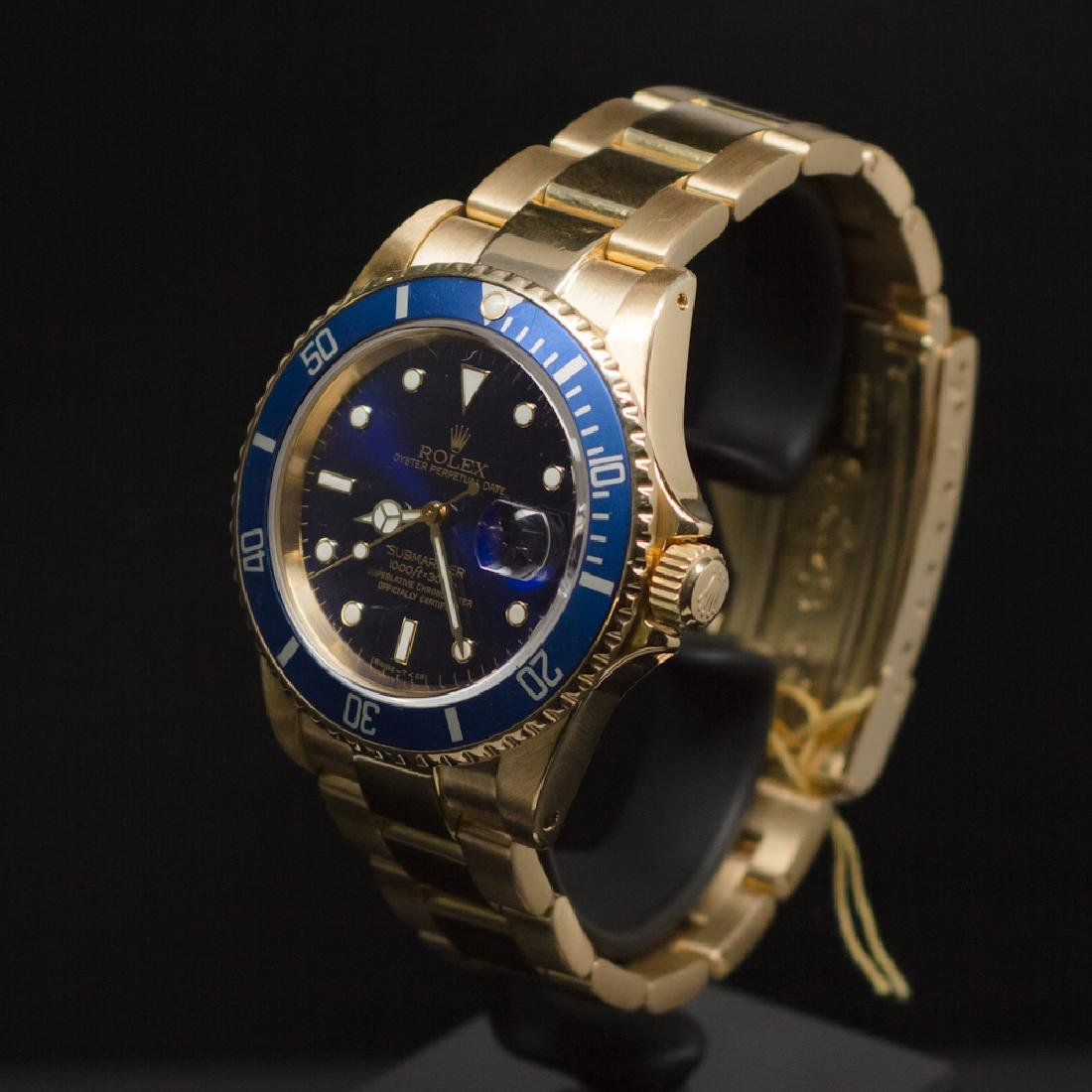 Rolex 18K Gold Submariner 40mm Blue Dial Men's - 2