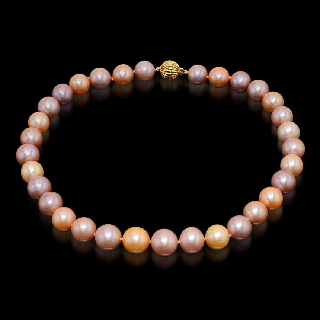 12-15mm Natural South Sea Pearl Necklace - 4