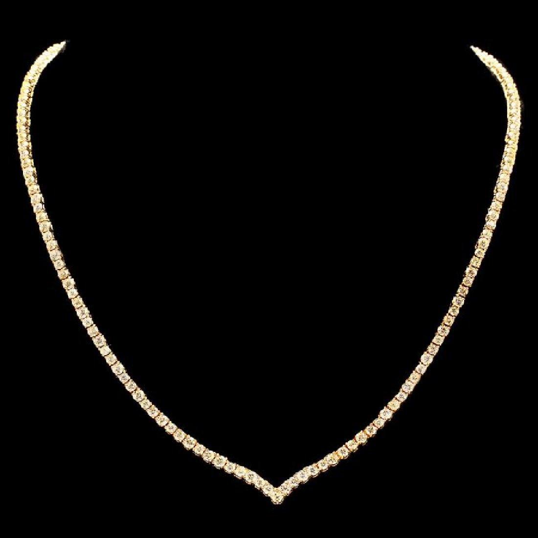 18k Yellow Gold 8.50ct Diamond Necklace