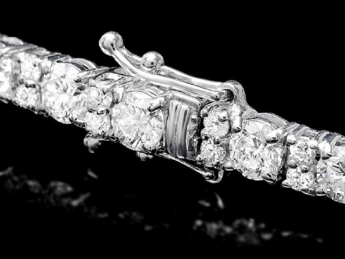 18k White Gold 8.60ct Diamond Bracelet - 2