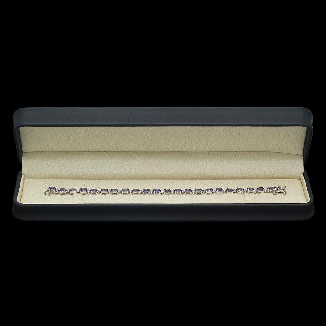 14K Gold 9.34ct Tanzanite 0.40ct Diamond Bracelet - 3