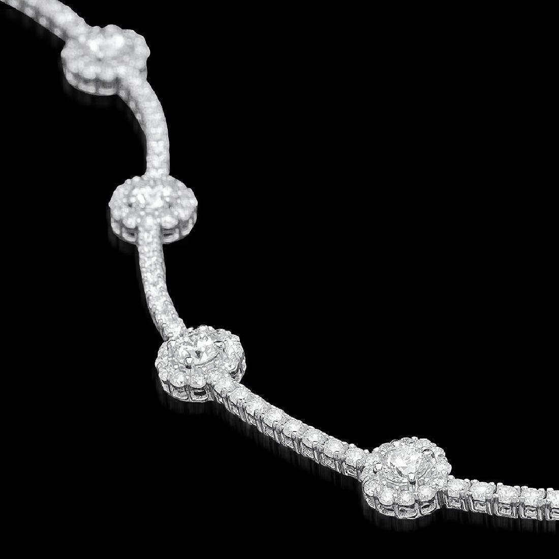18k White Gold 5.95ct Diamond Bracelet - 3