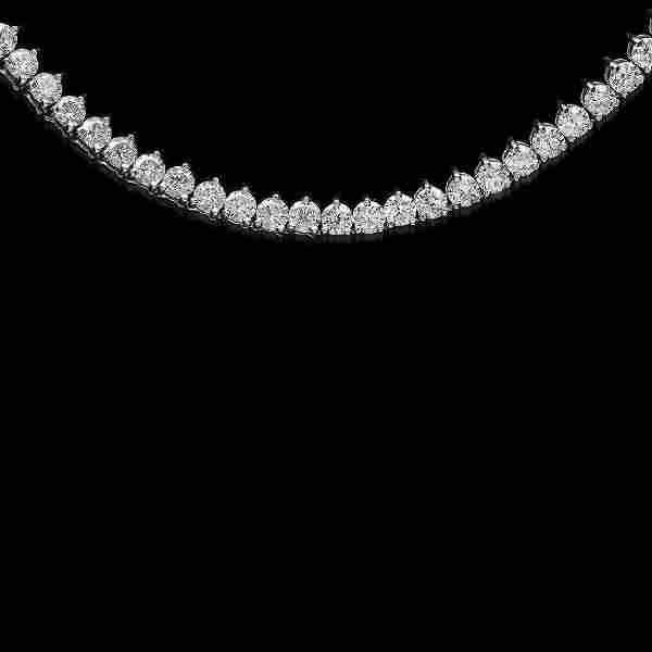 18K White Gold 4.42cts. Diamond Necklace
