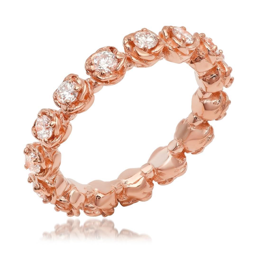 14K Rose Gold 1.13cts. Diamond Ring