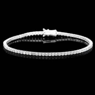 18k White Gold 320ct Diamond Bracelet