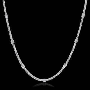 18K White Gold 791 ctsDiamond Necklace