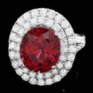 14k White Gold 850ct Zircon 210ct Diamond Ring
