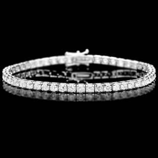 18k White Gold 650ct Diamond Bracelet