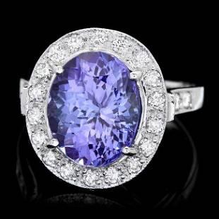 14k Gold 500ct Tanzanite 070ct Diamond Ring