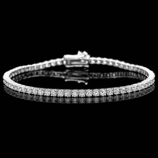 18k White Gold 445ct Diamond Bracelet