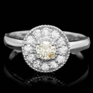 14k White Gold 67ct Diamond Ring