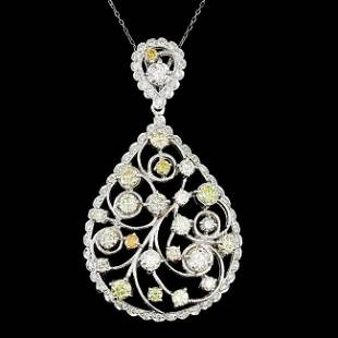 14k White Gold 685ct Diamond Pendant