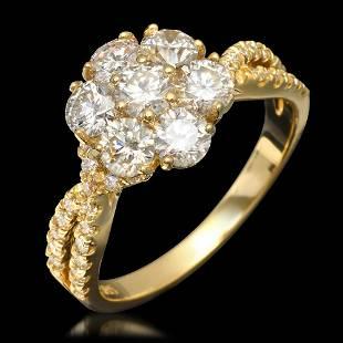 14k Yellow Gold 190ct Diamond Ring