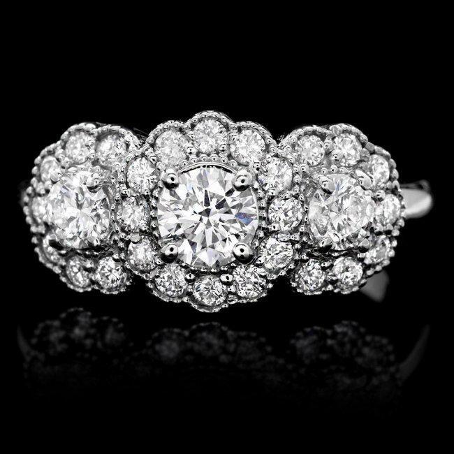 14k White Gold 1.2ct Diamond Ring