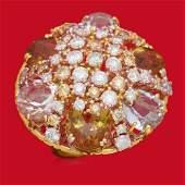 14K Gold 1655ct Aquamarine Morganite Yellow Beryl