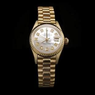 Rolex DateJust 18k Solid Gold Ladies Presidential 26mm