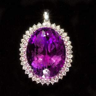 14K Gold 55.10ct Amethyst, 1.44ct Pink Sapphire 2.45ct