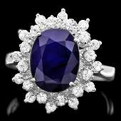 14k Gold 370ct Sapphire 070ct Diamond Ring