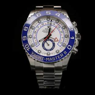 Rolex YachtMaster SS 44mm Mens Wristwatch