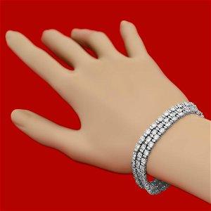 18k Gold 16.95ct Diamond Bracelet