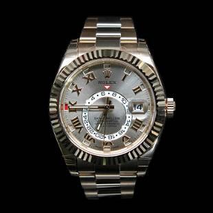 Rolex SkyDweller 42mm 18K Rose Gold Mens Wristwatch
