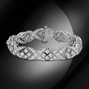 18K White Gold 14.85cts Diamond Bracelet