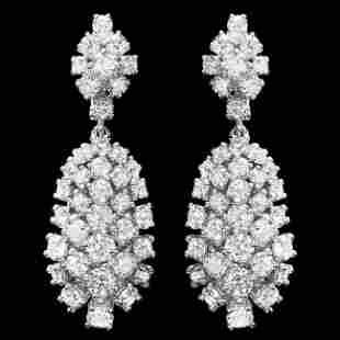 14k Gold 5.32ct Diamond Earrings