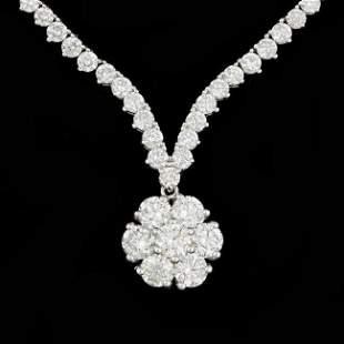 18k White Gold 10.2ct Diamond Necklace
