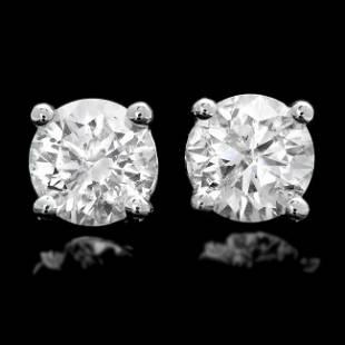 14k White Gold 1.20ct Diamond Earrings