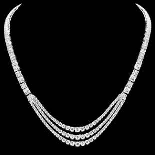 k White Gold 23ct Diamond Necklace