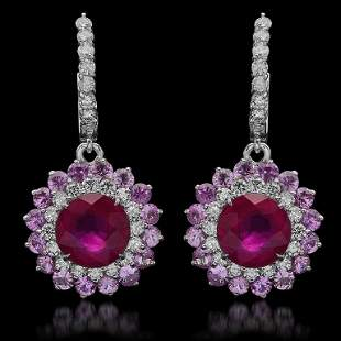 14K Gold 6.04ct Ruby, 4.80ct Pink Sapphire, 1.48ct
