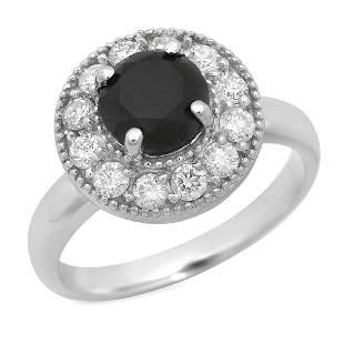 14K Gold 1.57ct Fancy Color Diamond 0.65ct Diamond Ring