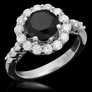 14K Gold 2.32ct Fancy Color Diamond 3.32ct Diamond Ring