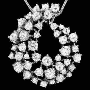 14k White Gold 2.80ct Diamond Pendant