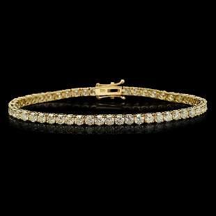 18K Gold 7.85ct Diamond Bracelet