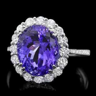 18k Gold 7.50ct Tanzanite 1.00ct Diamond Ring