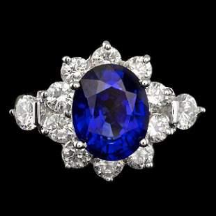 14k Gold 3.00ct Tanzanite 2.50ct Diamond Ring