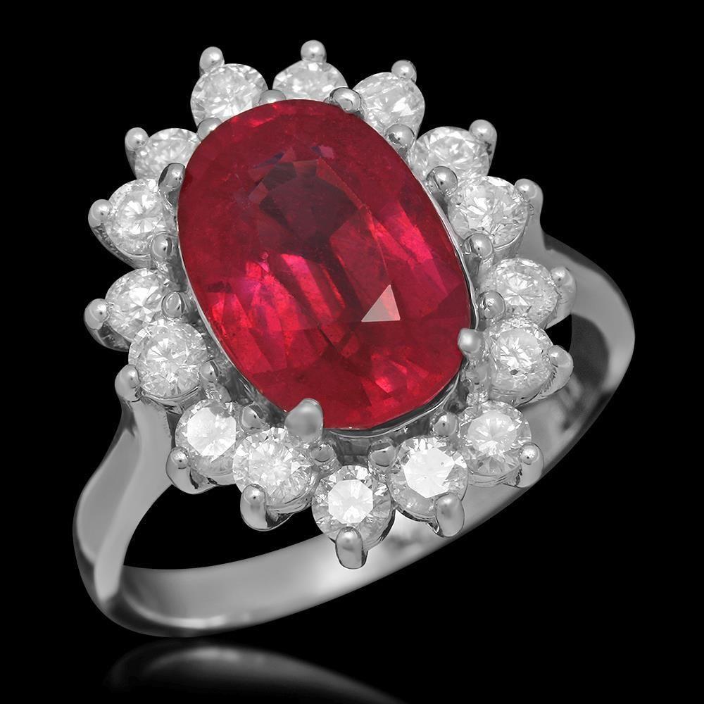 K Gold 4.64ct Ruby 0.98ct Diamond Ring