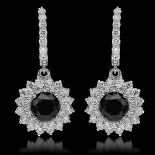 14k Gold 4.30ct Fancy Color Diamond & 7.19ct Diamond