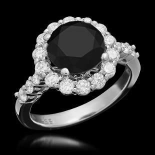 14K Gold 2.82ct Fancy Color Diamond 3.77ct Diamond Ring
