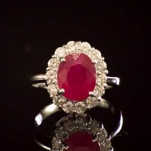 14K Gold 3.96ct Ruby 1.00ct Diamond Ring